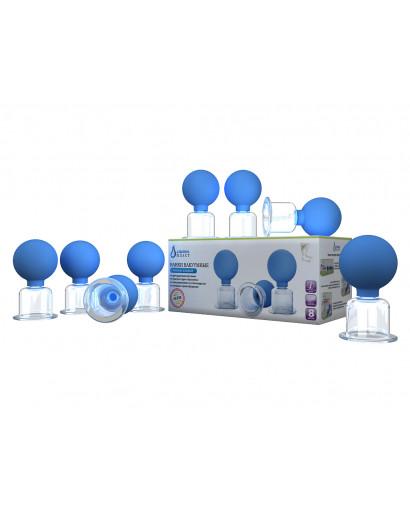 Set of 8 vacuum cups for anti cellulite massage