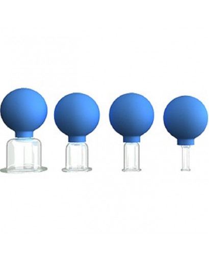 Set of 4 vacuum facial massage cups