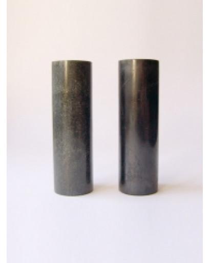2 Shungite polished Cilynder harmoniser lenght 100 mm diam 30 mm