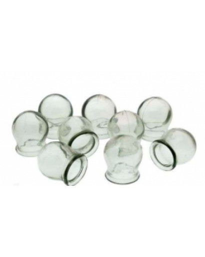 Set of 10 glass massage cups for fire cupping thearpy hijama