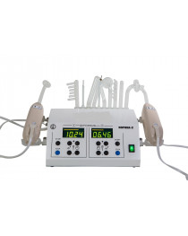 VIOLET RAY PROFESSIONAL HIGH FREQUENCY unit with  2 WAND FOR SPA SALON - 10 electrodes in the set