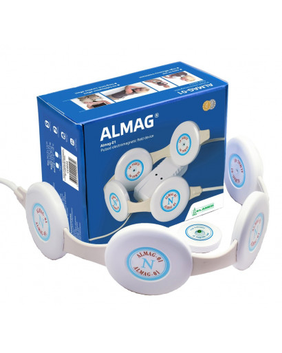 Almag 01 PEMF magnetotherapy device pain relief EU model 220V/50 Hz  EMS free shipping