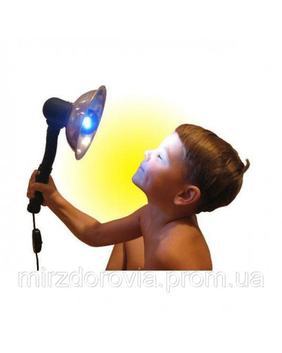 Dark blue lamp Minin reflector for light therapy