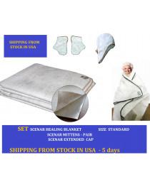 SET Scenar energy blanket Healing blanket OLM energizer  Size Standard 220*160 cm; Mittens and cap