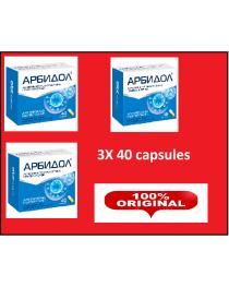 Arbidol 3x 40 capsules antivirus  (aka umifenovir)  SARS flu virus rotavirus prevention and treatment in adults and children