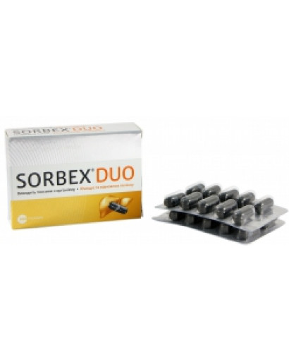 3 boxes SORBEX DUO 20 capsules x 250mg DETOX sorbent Activated carbon charcoal