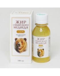 Bear fat /oil with cedar resin 100 ml Siberian Russian 100% natural