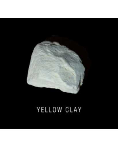 Yellow clay 0,5 kg ( 1,1 lb) edible for detox and scin care
