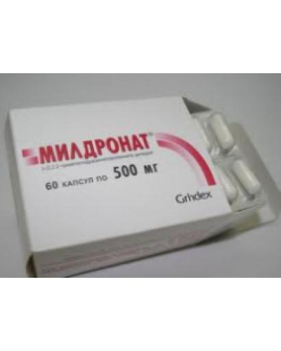 Mildronate Meldonium 60 capsules /500 mg each