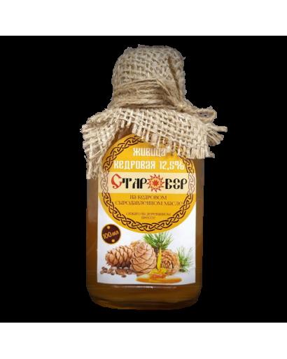 Cedar Nut Oil with Cedar Resin 12,5% Turpentine Balsam 100 ml Siberian craft product  healing skin care immune protection